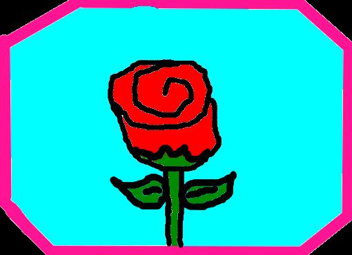 minha flor rosa desenho de memelilian gartic