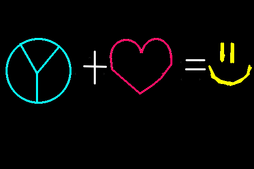 Paz E Amor Felicidade Desenho De Miihla Gartic