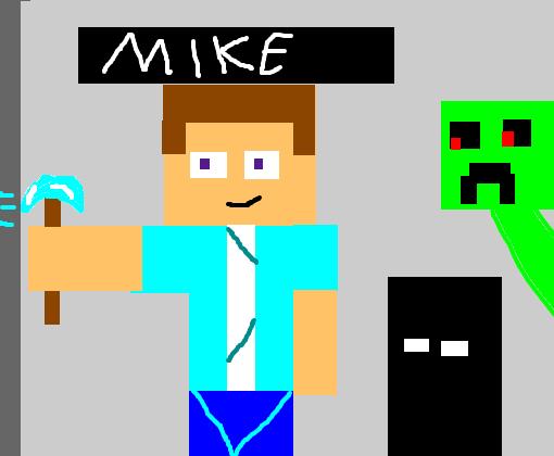 minha skin minecraft desenho de mikeshimitch gartic