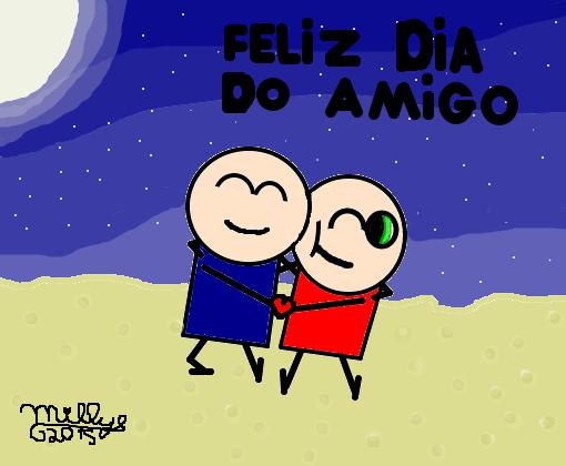 Feliz Dia Do Amigo Para Todos Vcs 3 Desenho De Millye S2 Gartic