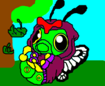 Caterpie vestido de Butterfree