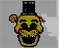GOLDEN FREDDY - PIXEL ART