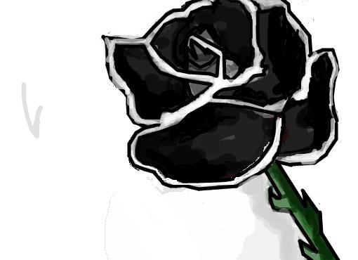 Rosa Negra Desenho De Miss Nothing Gartic