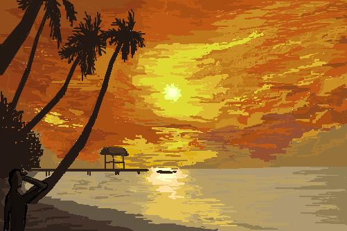 por um sol  - desenho de mugen7th