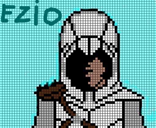 Pixel Art Ezio Do Assassin U0026 39 S Creed