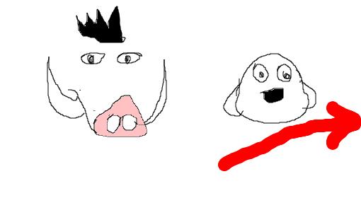 timão e pumba desenho de nathybotelho gartic
