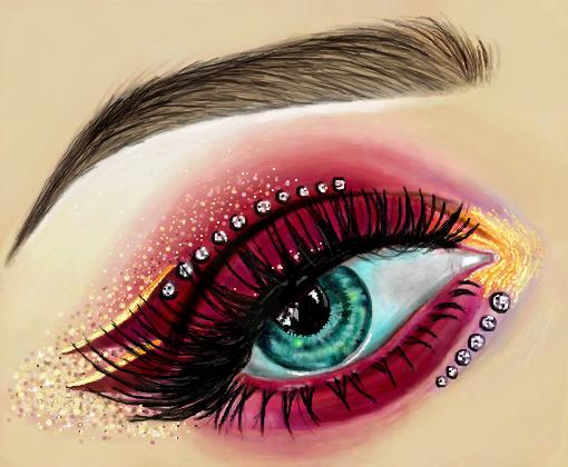 Olho De Maquiagem 3 Desenho De Neehlynda Gartic