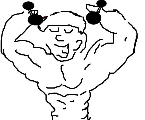 Resultado de imagem para desenho de homem malhando