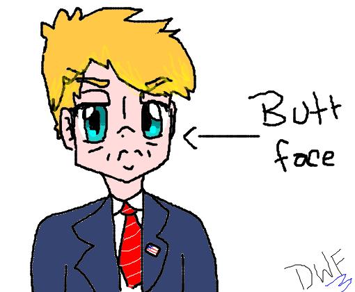 Donald Trump Desenho De P1e7r4 Gartic
