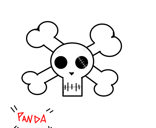 Caveira Simples Desenho De Panda Mitou Gartic