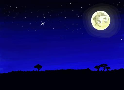 Paisagem Noite Desenho De Pgalves Gartic