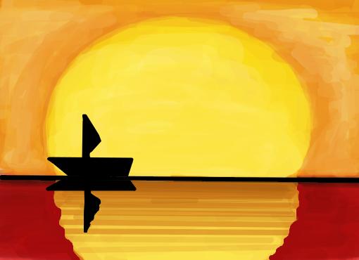 Por Do Sol Desenho De Pgalves Gartic