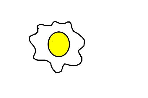 ovo frito desenho de pinbolbruninho gartic