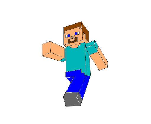 Minecraft Steve Desenho De Playgamesbr1 Gartic