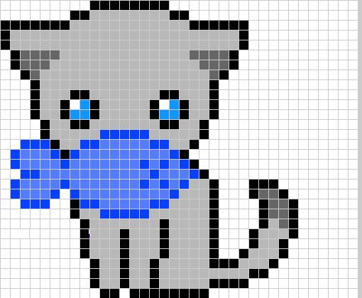 gatinho em pixel - desenho de puppet1
