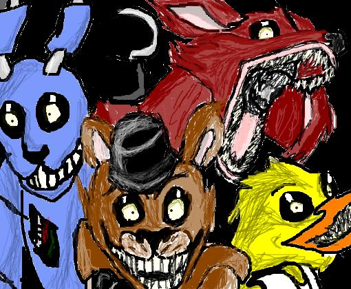 Five Nights At Freddy S Desenho De Reddemon Gartic