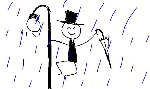 dan u00e7ando na chuva - desenho de resiak