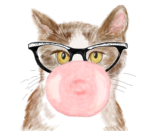 Cat With Glasses And Beanie