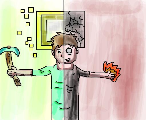 steve and herobrine minecraft desenho de rirao gartic