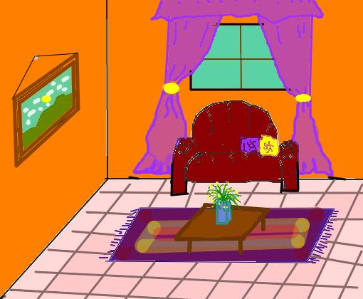 Desenho sala de estar grafite com desenho de prdios na for Sala de estar kawaii