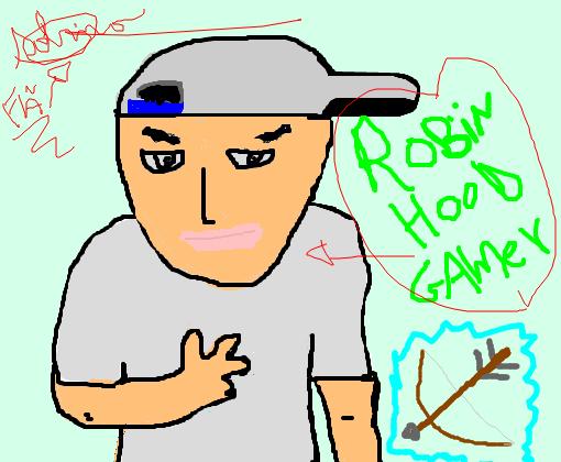 robin hood gamer desenho de sabrinaap gartic