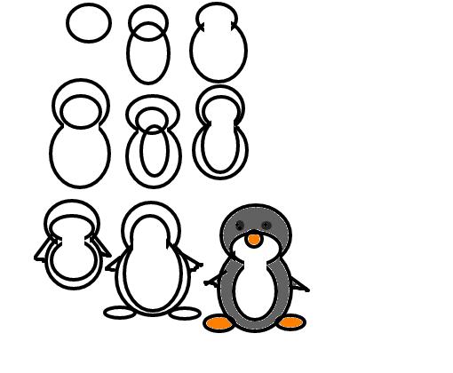 Como Desenhar Um Pinguim Desenho De Sakura Haruno321 Gartic
