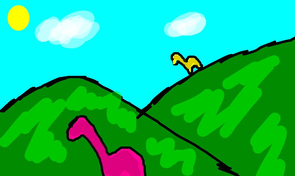 O Vale Dos Dinossauros Desenho De Sarahsilsan Gartic
