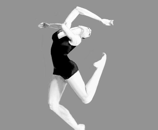 Bailarina Em Preto E Branco Desenho De Secret Service Gartic