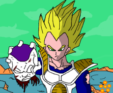 Vegeta SSJ vs Freeza