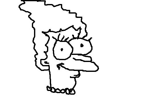 marge simpson desenho de shopie gartic