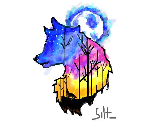 Lobo Colorido Desenho De Silt Gartic