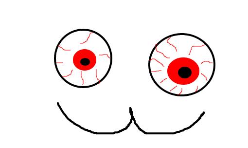 Olhos Vermelhos Desenho De Sinba99 Gartic