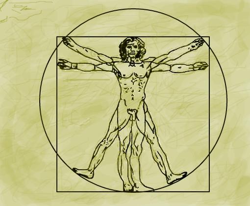 Resultado de imagem para homem vitruviano