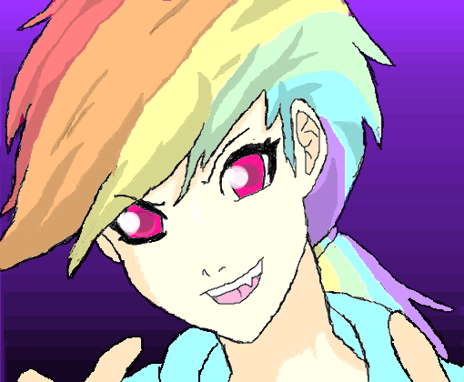 Rainbow Dash ( Anime ) P/ TheDixon_