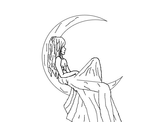 Menina Da Lua Desenho De Soudocinha Gartic