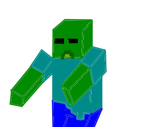 zumbi minecraft monstro desenho de sqweekie gartic