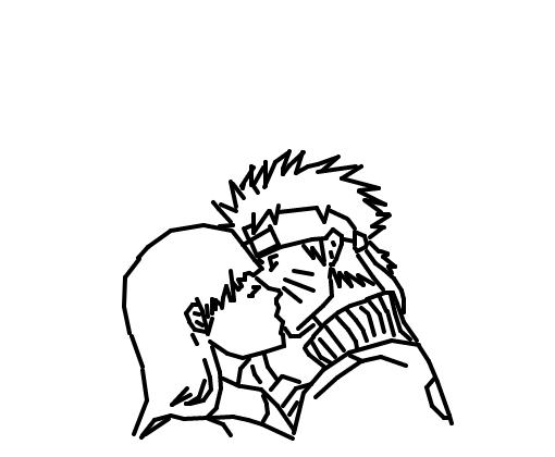 naruto e hinata - desenho de sr crack