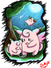 Clefairy blue moon