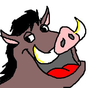 timão e pumba desenho de temari gartic