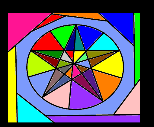 mosaico pentagrama desenho de trixies2 gartic