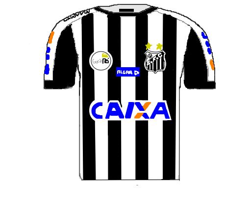 Desenho De Camisa: Camisa 2 Santos FC 2017