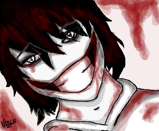 Jeff The Killer Versão Anime Desenho De Vaneguaxinim12