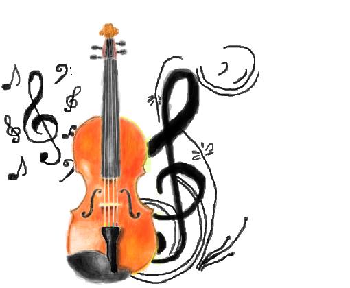 Violino Desenho De Velyna Gartic