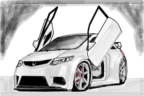 2010 Honda Civic Si >> Honda Civic SI - Desenho de victor2292 - Gartic