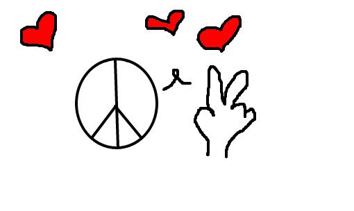 Paz E Amor Desenho De Viihaus Gartic