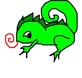 camaleão desenho de yuki0 gartic